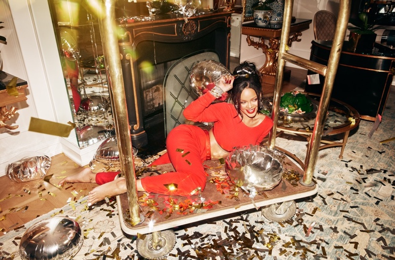 Surrounded by confetti, Rihanna fronts Savage x Fenty Xtra VIP campaign