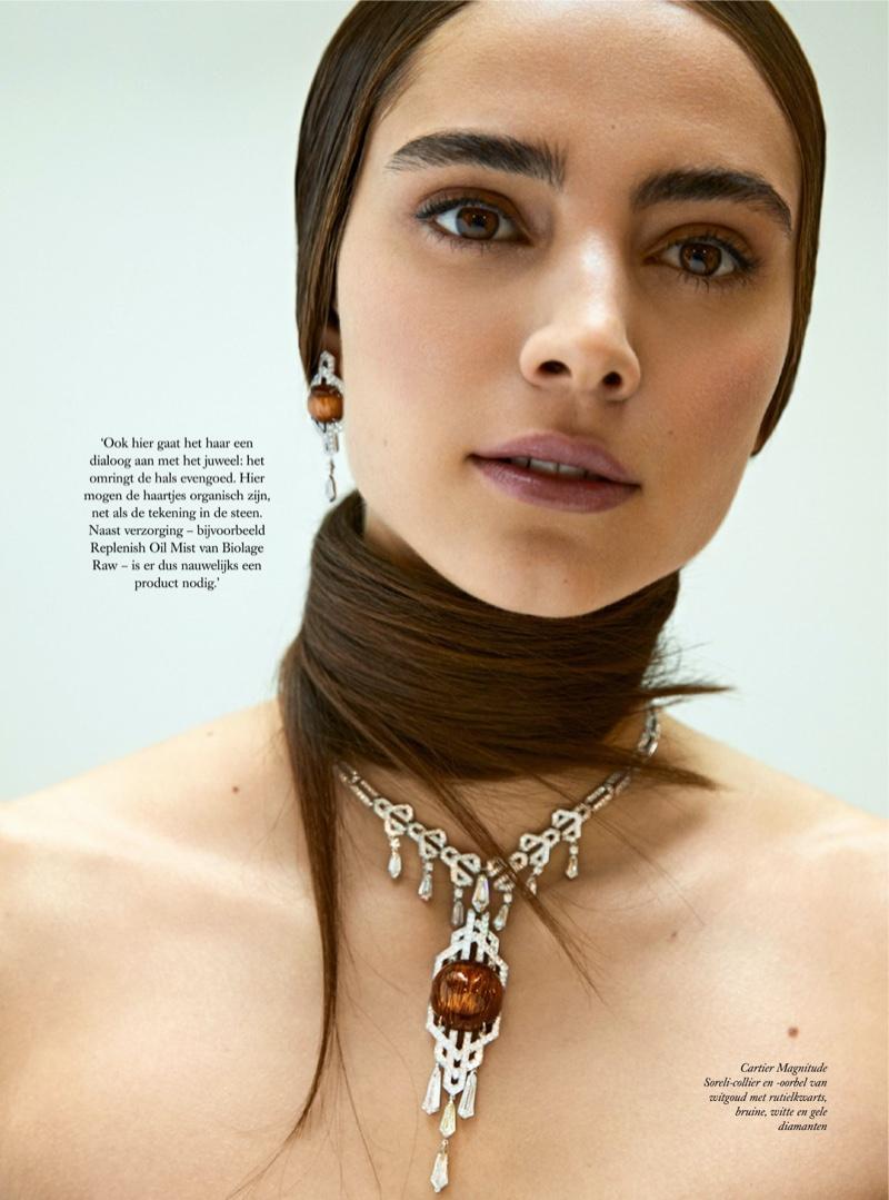 Romy Schonberger Glitters in Cartier for Harper's Bazaar Netherlands