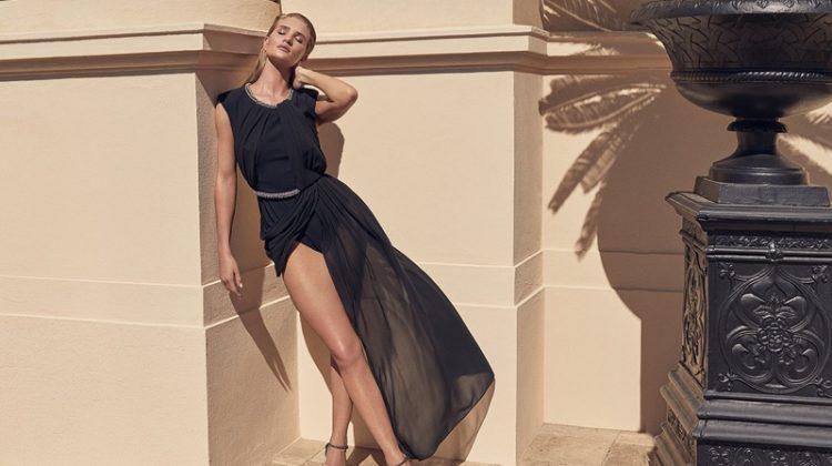 Model Rosie Huntington-Whiteley poses in Jimmy Choo Lilah 120 heels