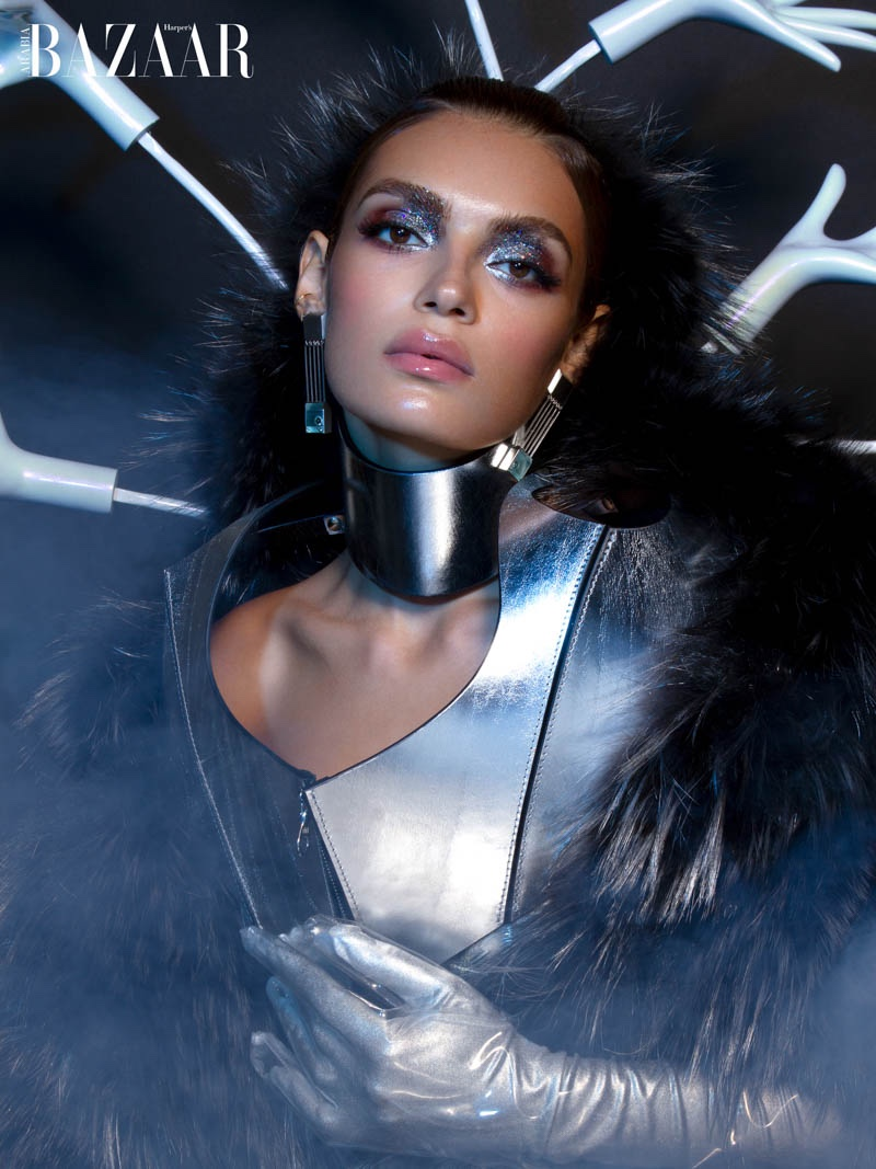 Rubina Dyan Shines for Harper's Bazaar Arabia Beauty