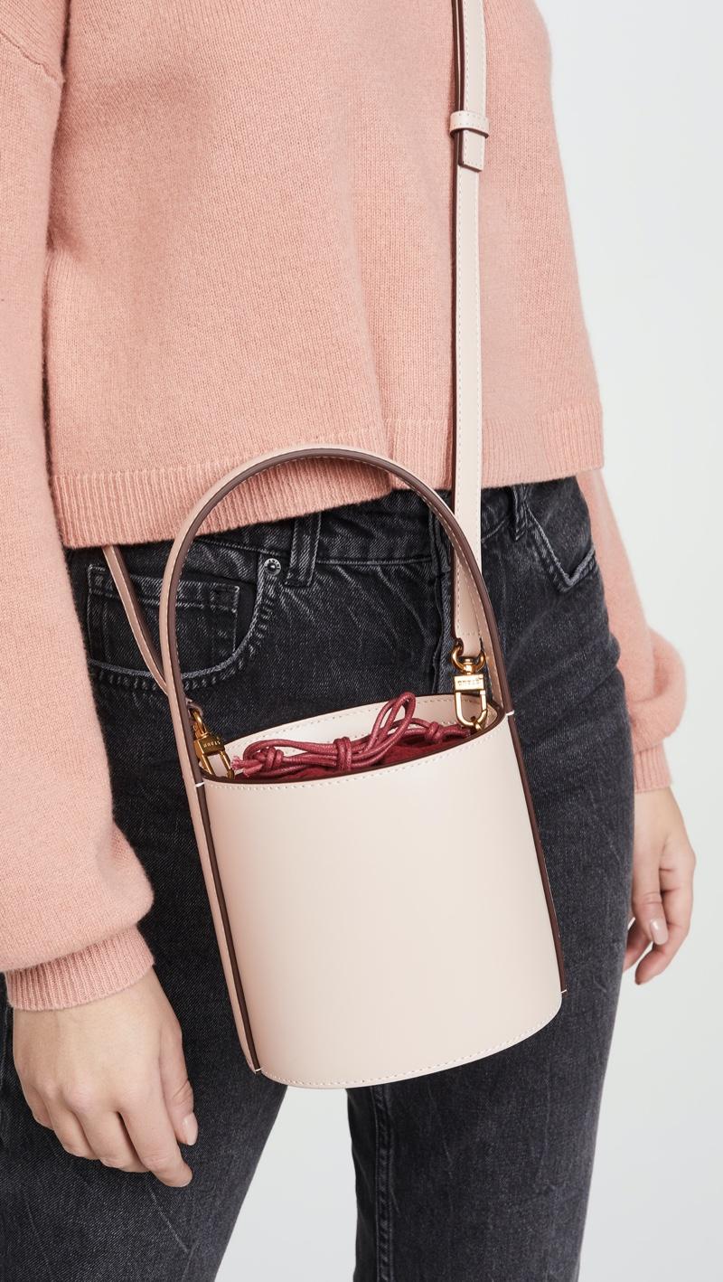 STAUD Mini Bissett Bag in Blush $295