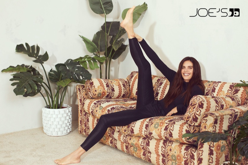 Kicking up her heels, Sara Sampaio fronts Joes Jeans fall-winter 2019 campaign