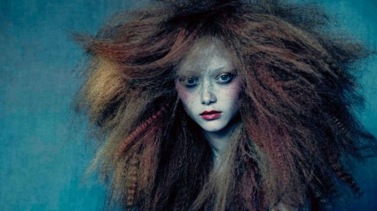 Sarah Grace Wallerstedt Models Artly Hairstyles for Sunday Times Style