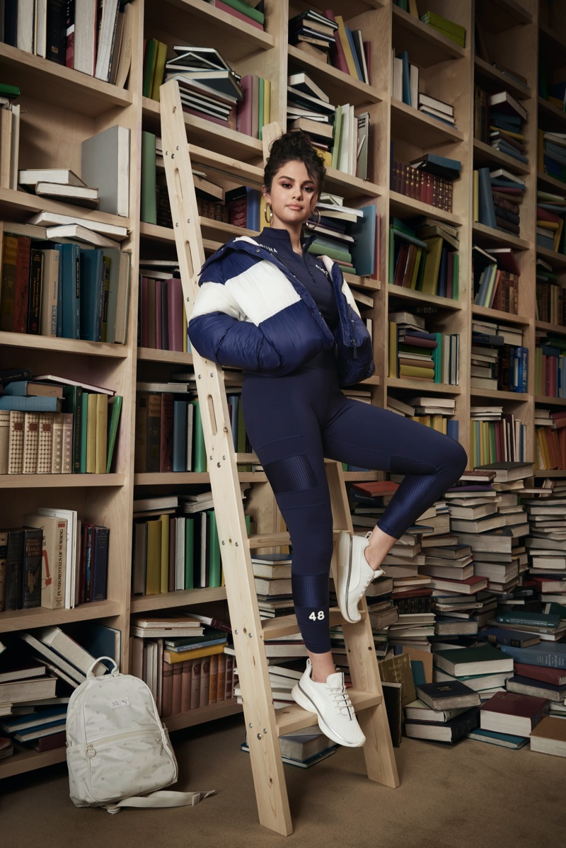 Rocking a track suit, Selena Gomez appears in SG x PUMA fall-winter 2019 campaign