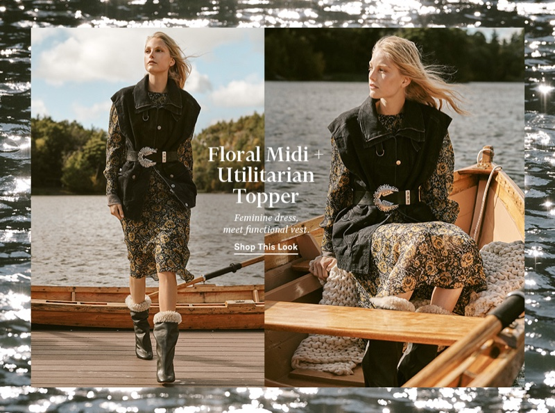 Stella McCartney Waistcoat Organic Extreme Black $1,775, Veronica Beard Oneida Dress $795, Isabel Marant Abigail Belt $793 and Lakfee Shearling Wrinkled Boots $1,465