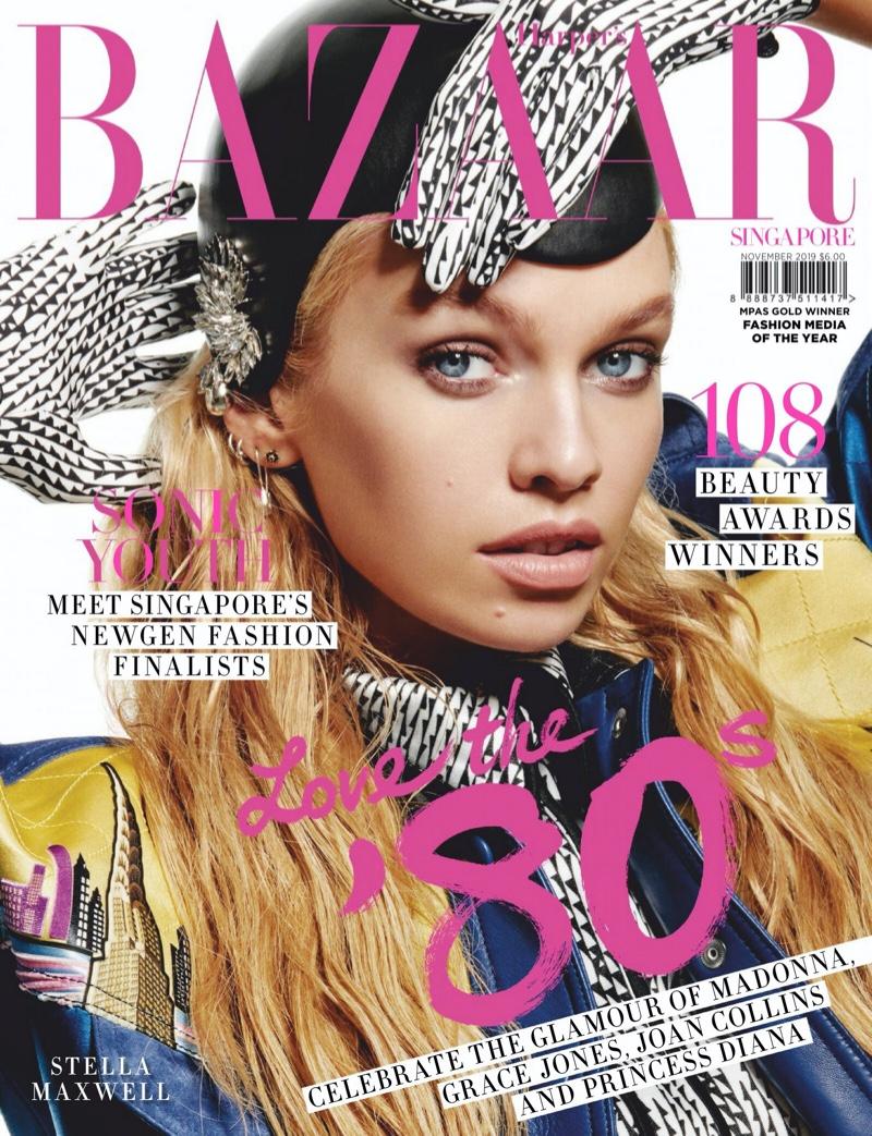 Stella Maxwell Goes Bold in Louis Vuitton for Harper's Bazaar Singapore