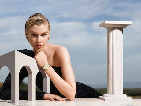 Stella Maxwell stars in Versace Watches fall-winter 2019 campaign