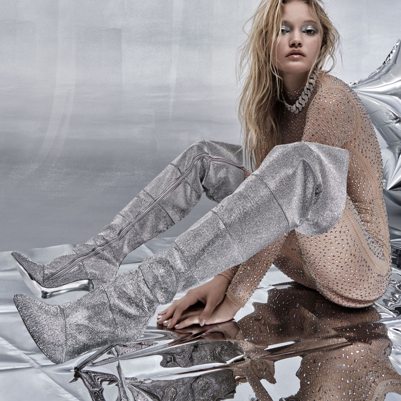 Jessica Whitlow appears in Steve Madden Holiday 2019 campaign