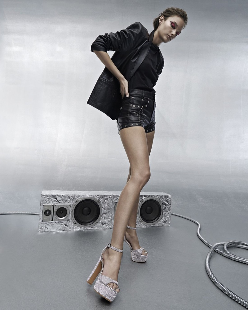 Kinga Trojan poses in Steve Madden Holiday 2019 campaign
