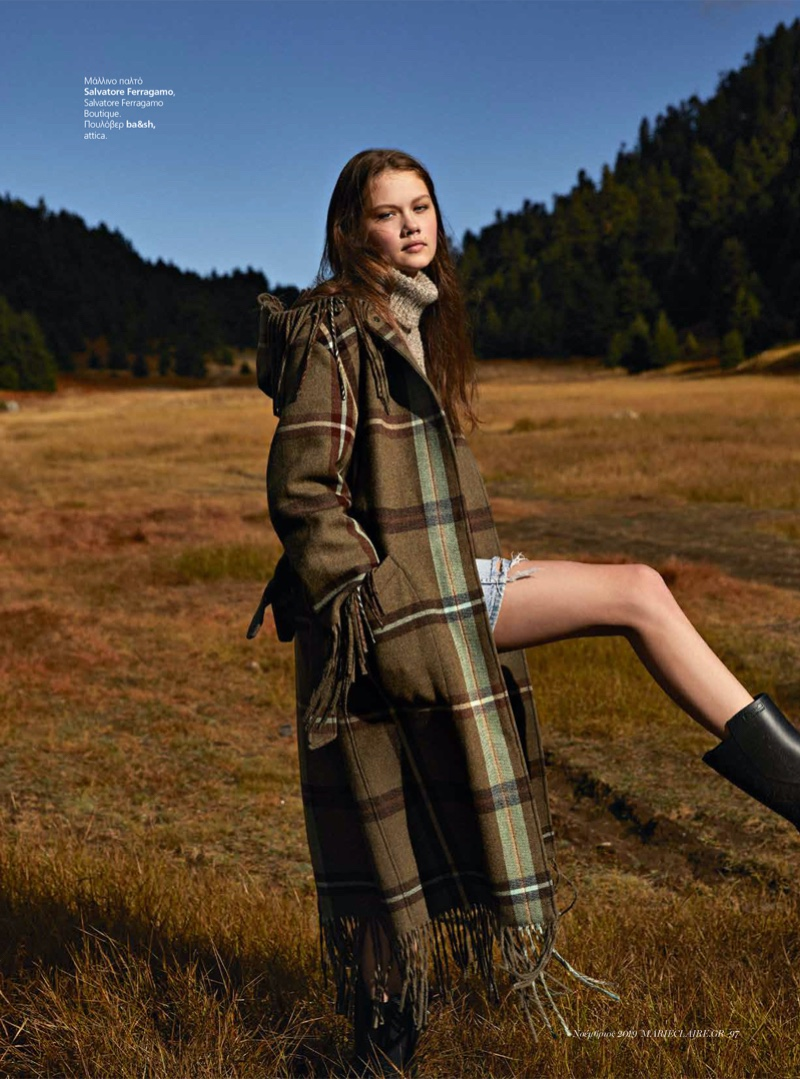 Tessa Jean Models Layered Winter Looks for Marie Claire Greece