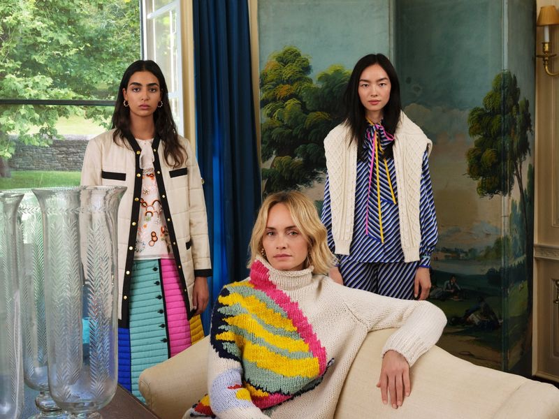An image from Tory Burch's Holiday 2019 advertising campaign