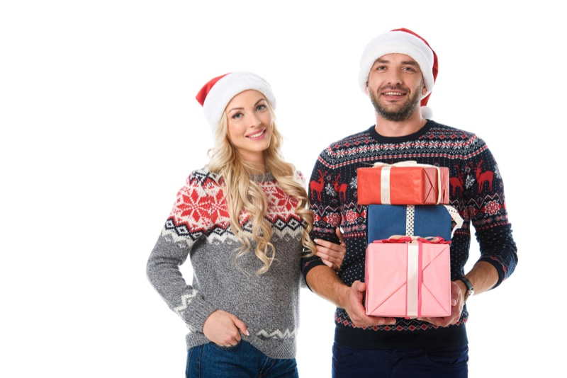 Ugly Christmas Sweaters Couple Gifts