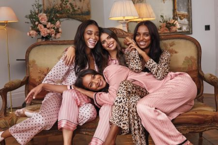Winnie Harlow, Lais Ribeiro, Sara Sampaio and Jasmine Tookes star in Victoria's Secret Holiday 2019 campaign