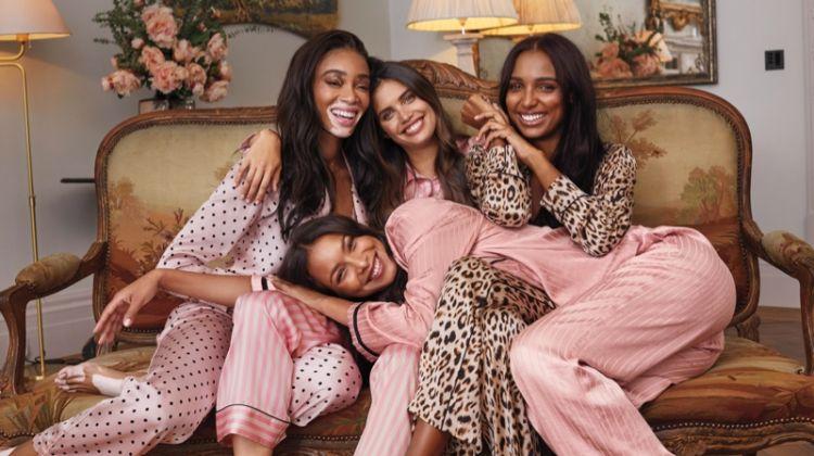 Winnie Harlow, Lais Ribeiro, Sara Sampaio and Jasmine Tookes star in Victoria's Secret Holiday 2019 campaign