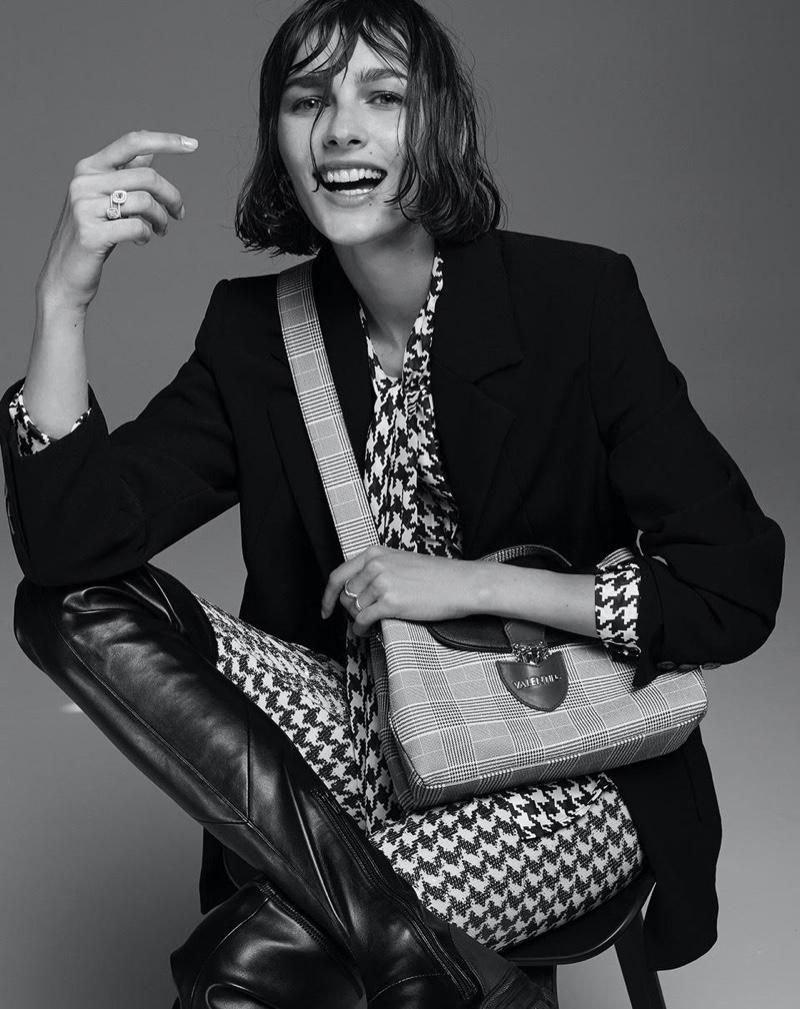 Vika Volkute Wears Menswear Inspired Looks for F Italia