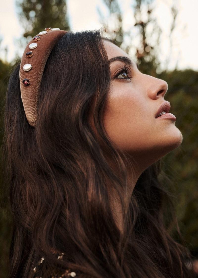 Violeta by Mango beaded detail headband