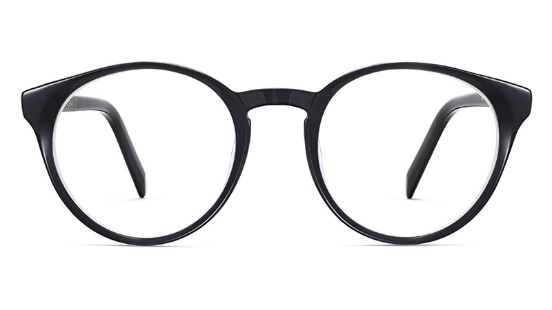 Warby Parker Briggs Glasses in Layered Jet Black Crystal $95