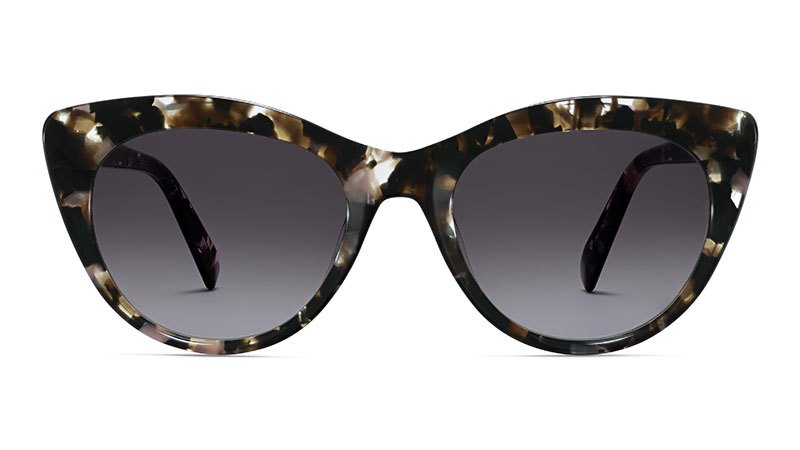 Warby Parker Leta Sunglasses in Black Currant Tortoise $95