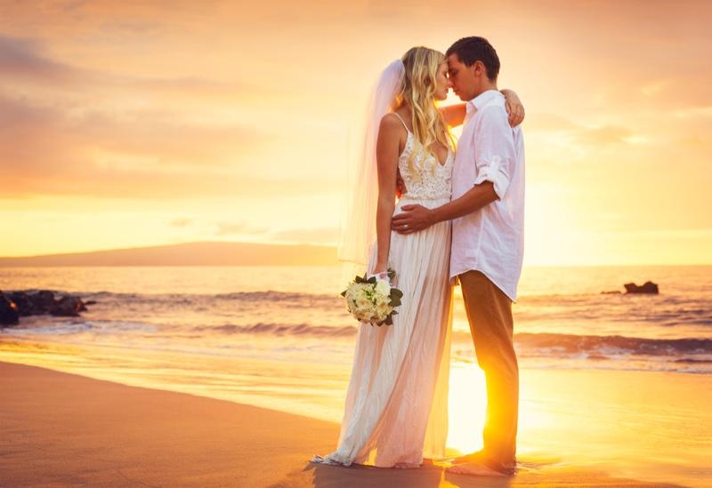 Wedding Beach Bride Groom