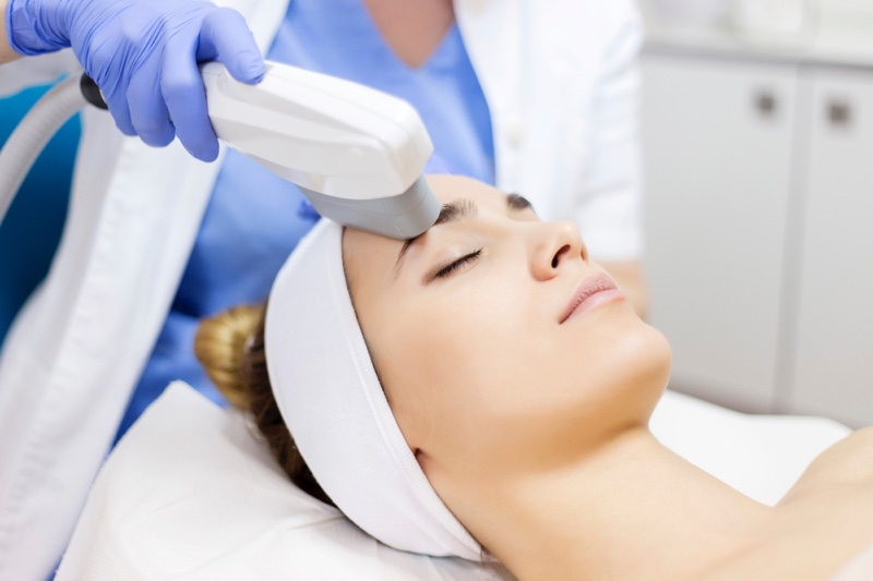 Woman Laser Anti Aging Skin Treatment