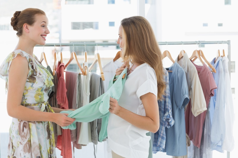 Women Shopping Clothes Store