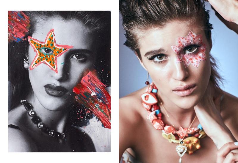 Eva & Petra Model Bold Beauty for XOXO The Mag