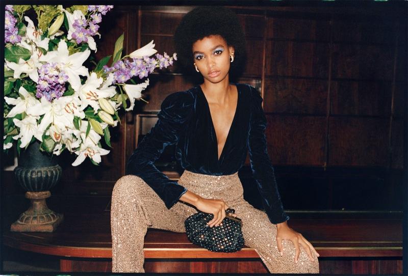 Blesnya Minher stars in Zara TRF Sunset Party 2019 editorial