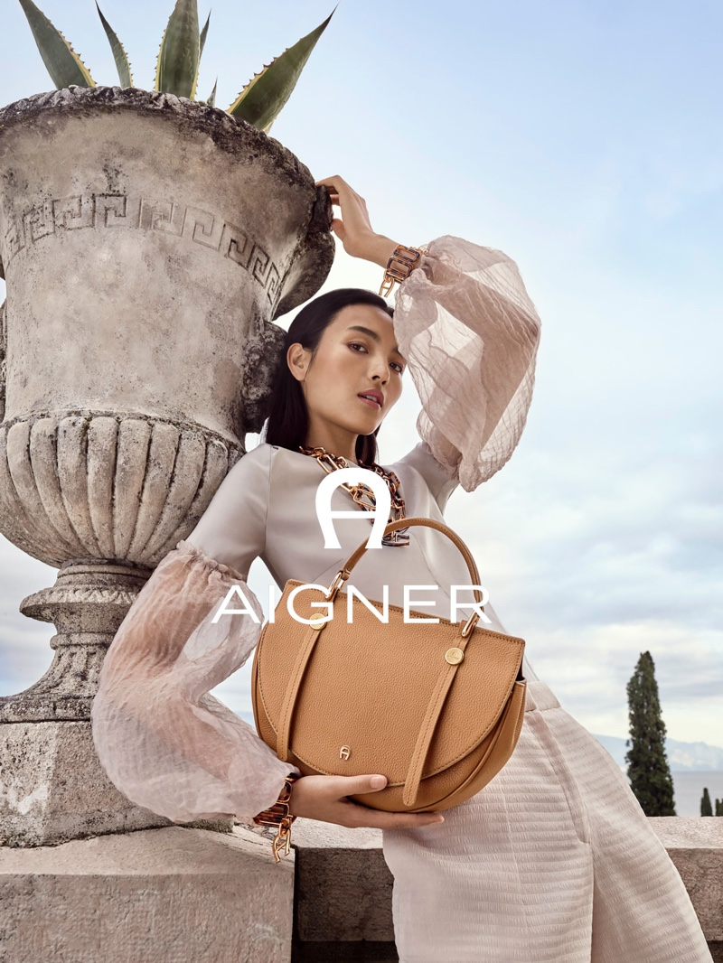 Luping Wang fronts Aigner spring-summer 2020 campaign