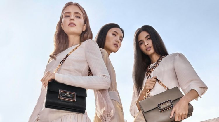 Anna Mila Guyenz, Lupine Wang and Aira Ferreira star in Aigner spring-summer 2020 campaign