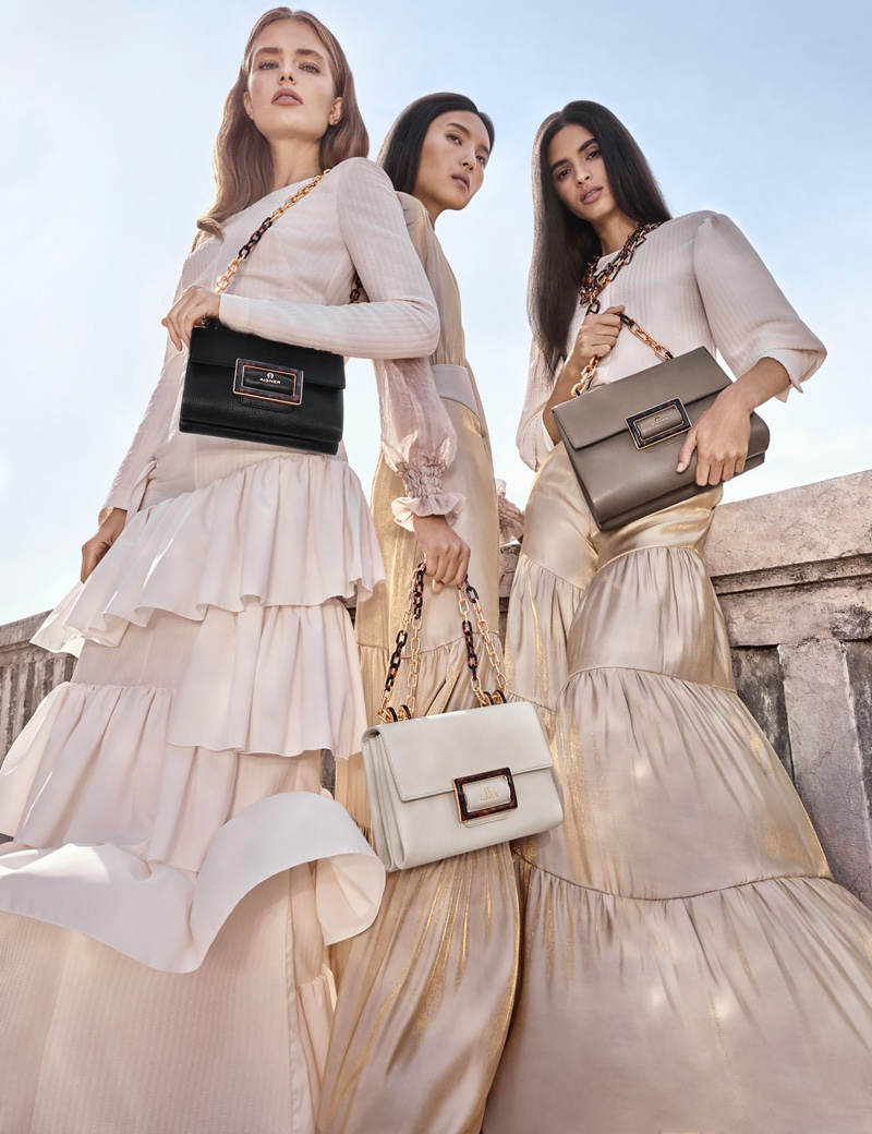 Anna Mila Guyenz, Luping Wang and Aira Ferreira star in Aigner spring-summer 2020 campaign