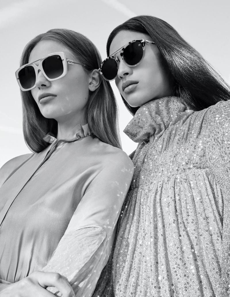 Anna Mila Guyenz and Aira Ferreira appear in Aigner spring-summer 2020 campaign