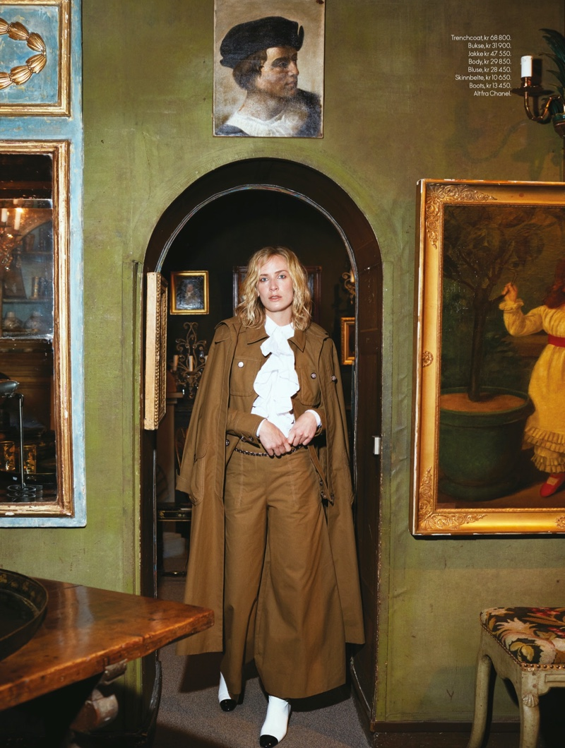 Aleksandra Orbeck Nilssen Looks Parisian Chic for ELLE Norway