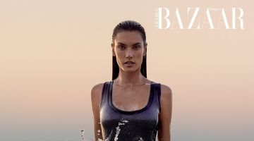 Alessandra Ambrosio is A Natural Beauty for Harper's Bazaar Arabia