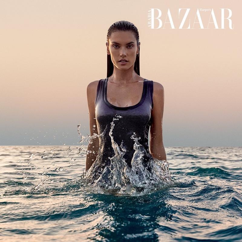 Alessandra Ambrosio is A Natural Beauty for Harper's Bazaar Arabia