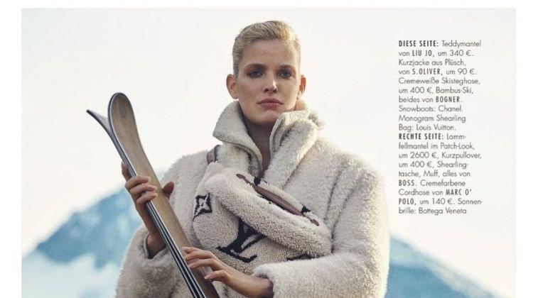Alisa Ahmann Models Snow Ready Styles for ELLE Germany