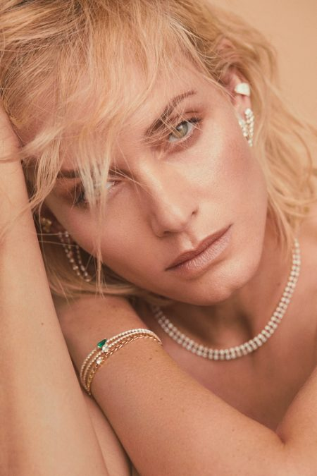 Amber Valletta Wows for Anita Ko Jewelry Campaign