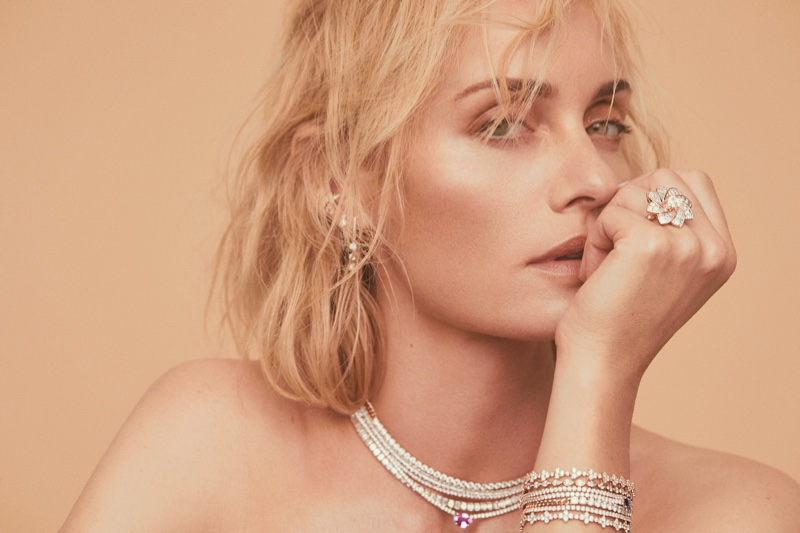 Ready for her closeup, Amber Valletta fronts Anita Ko jewelry campaign