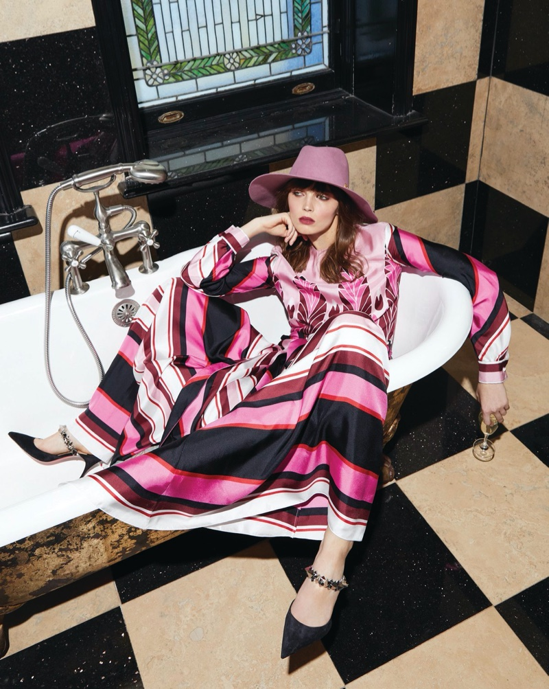 Angelika Maciolek Poses in Party-Ready Looks for The Gloss