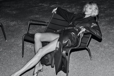 Anja Rubik Poses in Night Out Looks for T Singapore