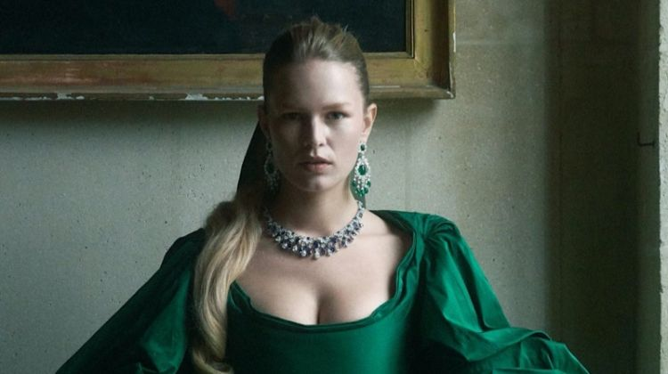 Anna Ewers Dazzles in Regal Fashion for Vogue Paris