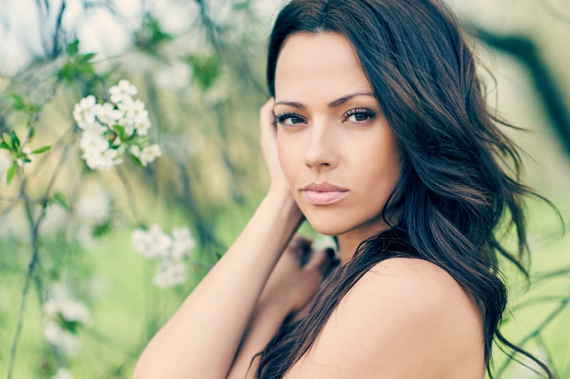 Attractive Woman Beautiful Skin Long Hair