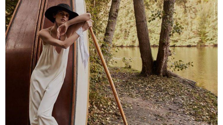 Saskia de Brauw is a Natural Beauty for Blue Erdos Spring 2020 Campaign
