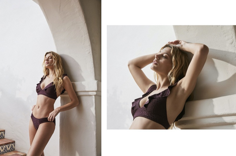 Flaunting her bikini body, Bregje Heinen fronts Robin Piccone cruise 2020 lookbook