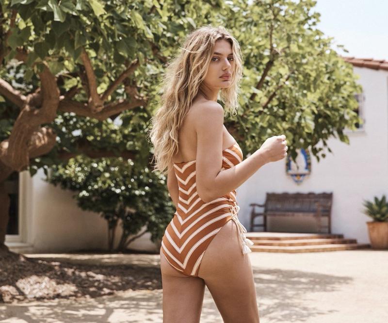 Model Bregje Heinen appears in Robin Piccone cruise 2020 lookbook