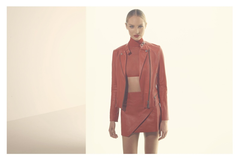 Clad in all red look, Candice Swanepoel fronts Animale El Rojo campaign