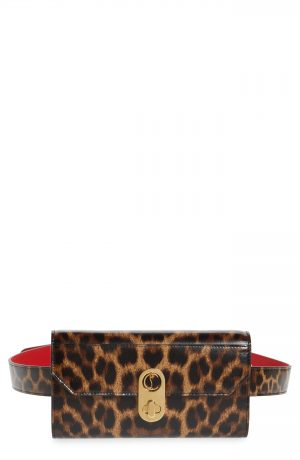 Christian Louboutin Elisa Calfkin Leather Belt Bag - Brown