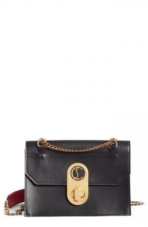 Christian Louboutin Large Elisa Calfskin Leather Shoulder Bag - Black
