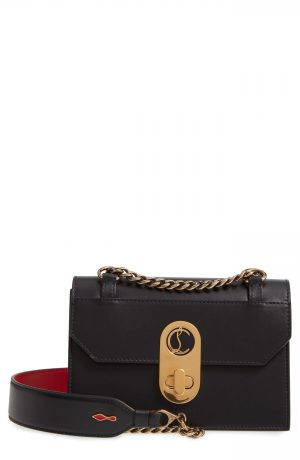 Christian Louboutin Mini Elisa Calfskin Leather Shoulder Bag - Black