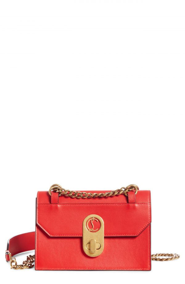 Christian Louboutin Mini Elisa Calfskin Leather Shoulder Bag - Red