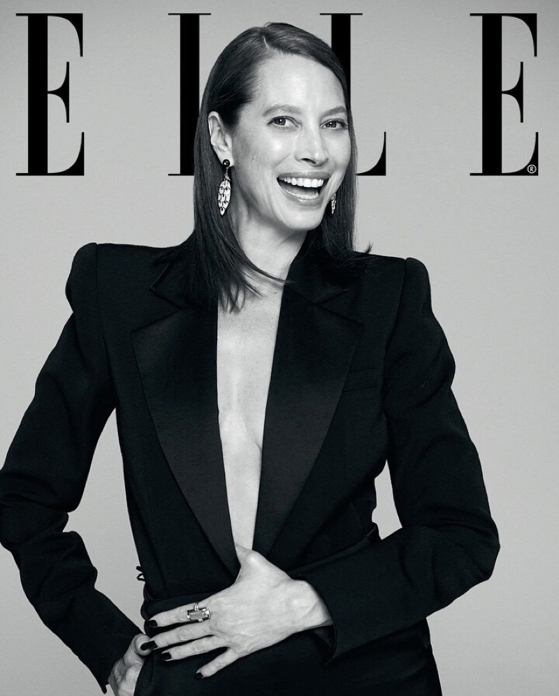 Christy Turlington Wears Elegant Styles for ELLE India
